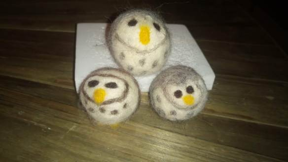 Our felted owls